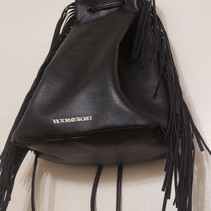 Victoria's Secret Black Leather Backpack